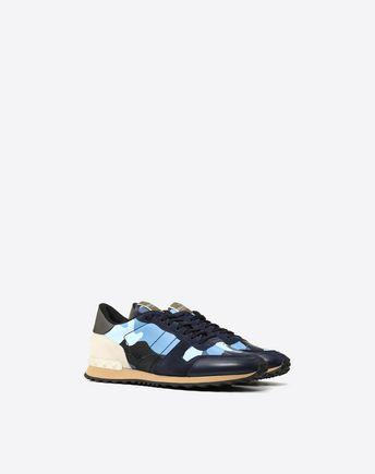 VALENTINO GARAVANI UOMO LOW-TOP SNEAKERS U Camouflage Rockrunner sneaker  r