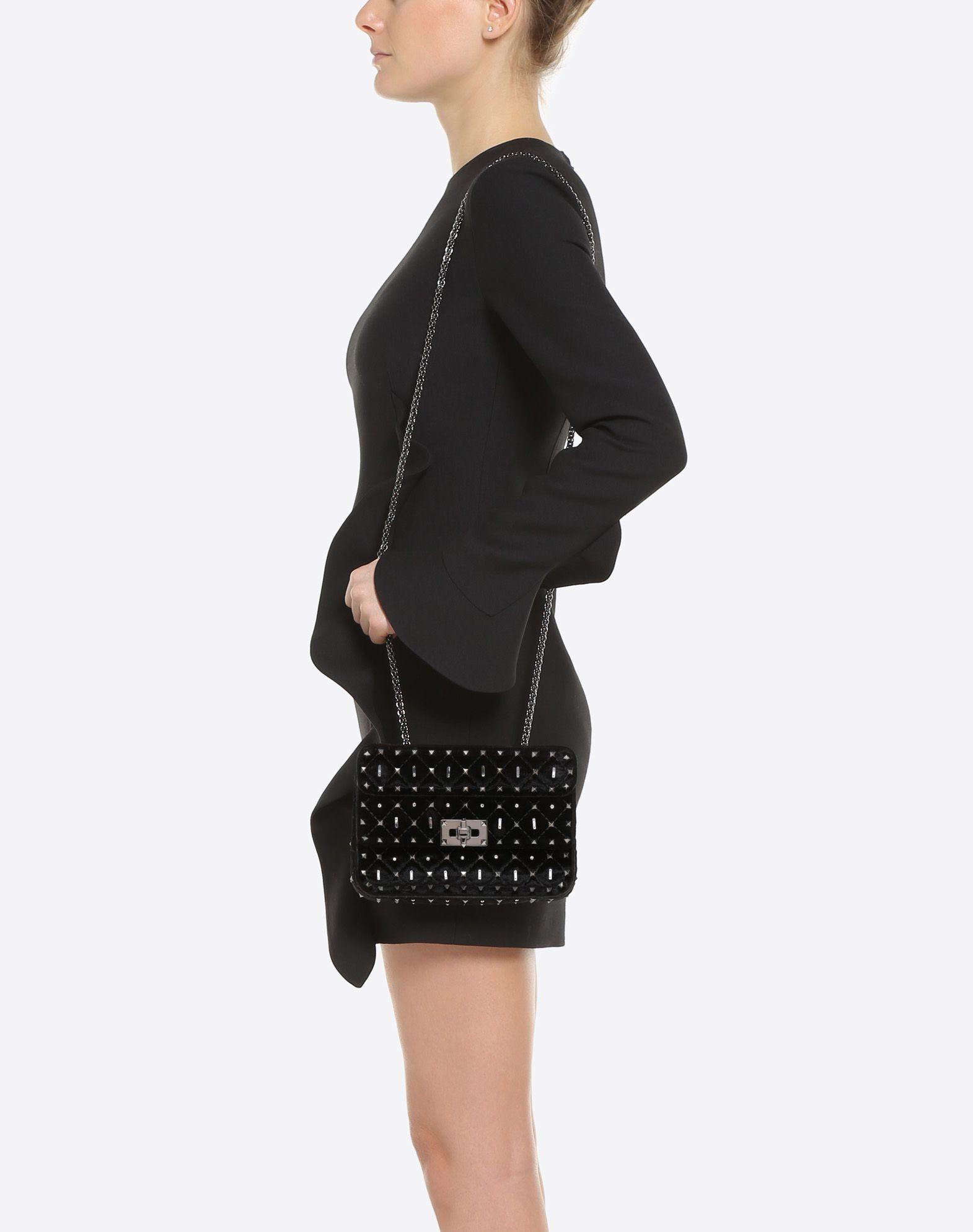 VALENTINO GARAVANI Small Rockstud Spike.It Chain Bag  Shoulder bag D a