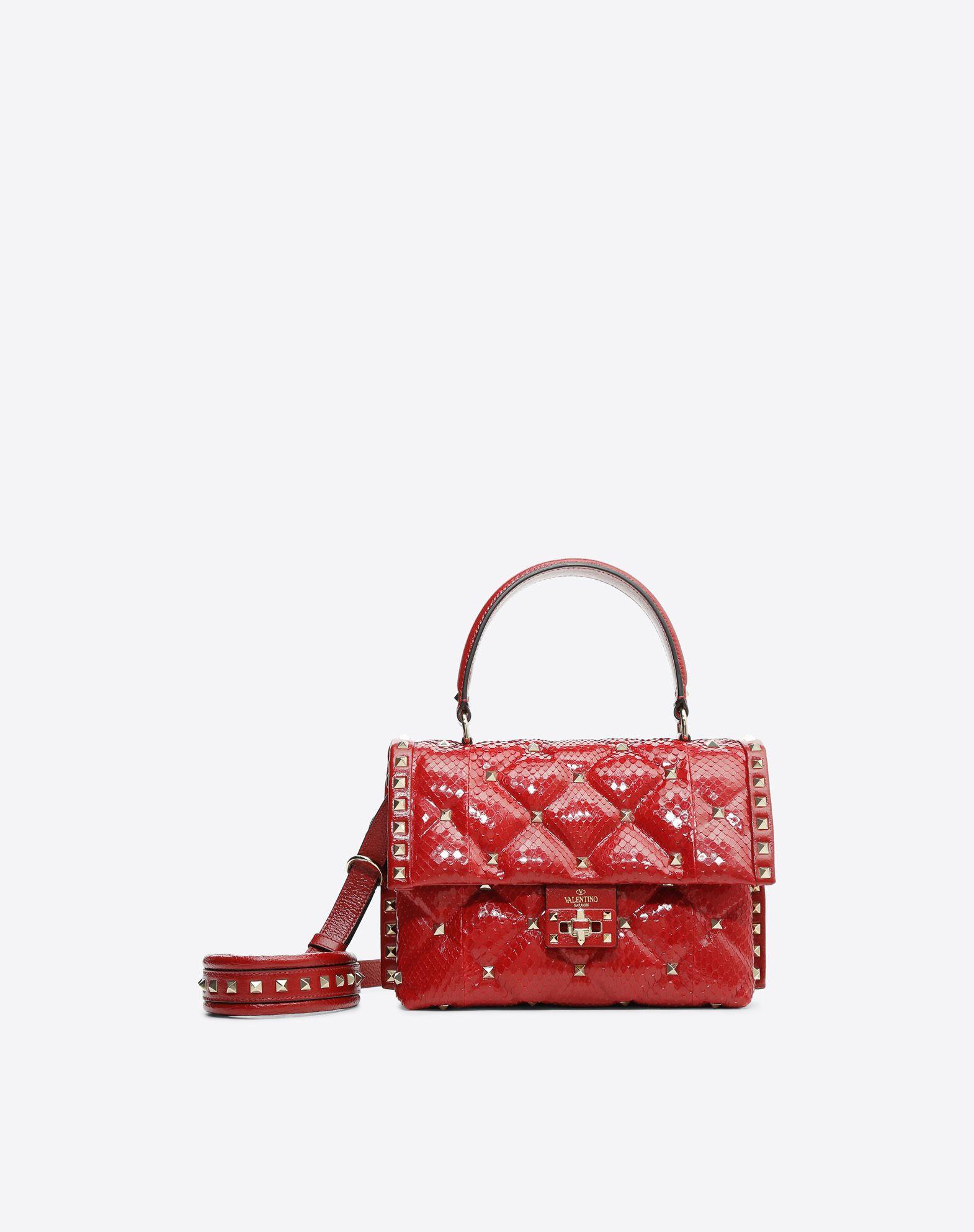VALENTINO GARAVANI Candystud Top Handle Bag HANDBAG D f