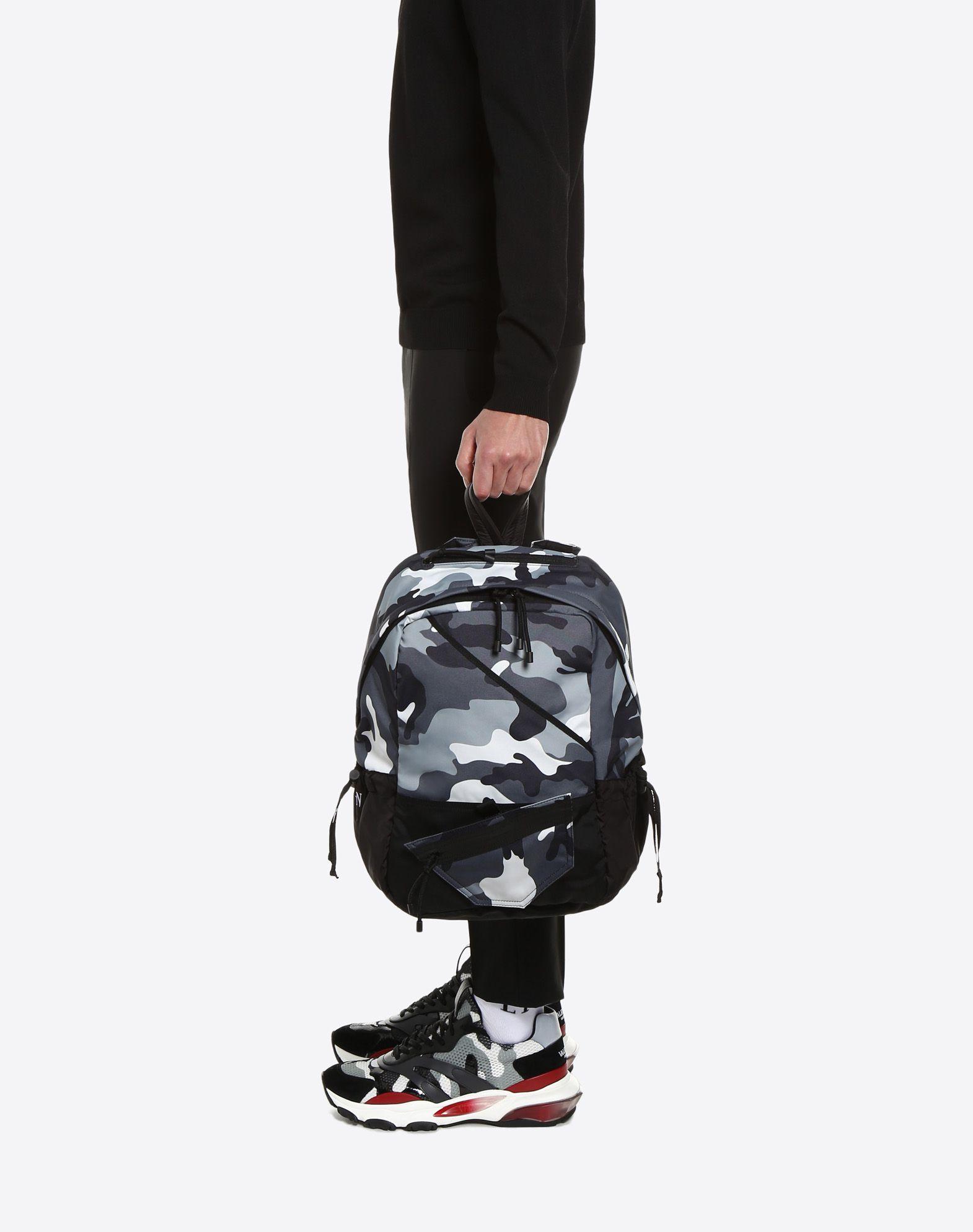 VALENTINO GARAVANI UOMO Camouflage rucksack Backpack U a