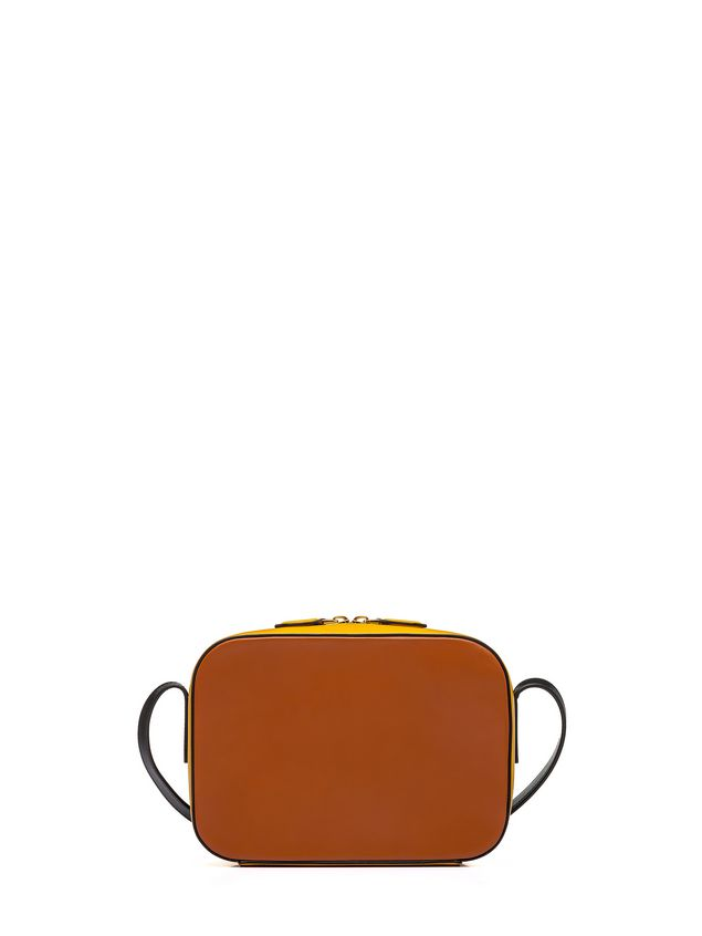 c31ddde2749 Marni Yellow and orange SHELL bag in leather Woman