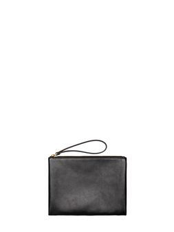 Marni Clutch in leather black and brown Woman