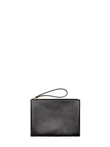 Marni Black and brown calfskin clutch Woman