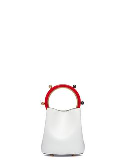 Marni Calfskin PANNIER bag with spherical details Woman