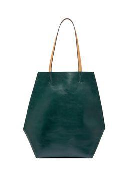 Marni Green and blue calfskin TANGRAM bag Woman