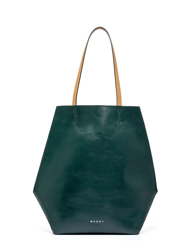 Marni Green and blue calfskin TANGRAM bag Woman
