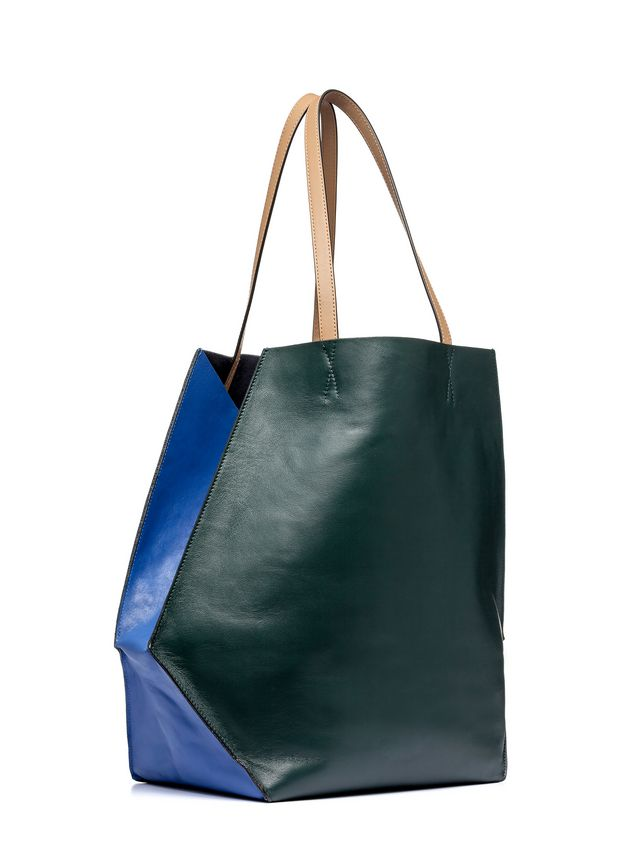 Marni Green and blue calfskin TANGRAM bag Woman - 2