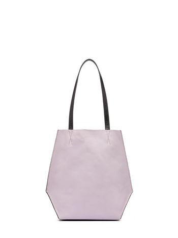 Marni Brown and pink calfskin TANGRAM bag Woman