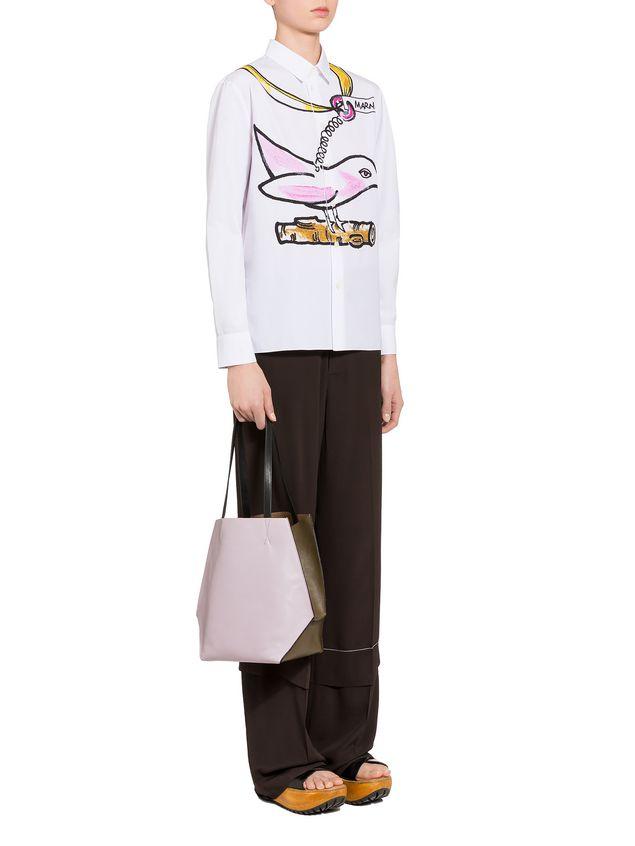 Marni Brown and pink calfskin TANGRAM bag Woman - 5