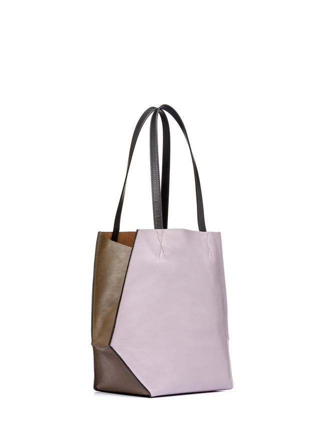 Marni Brown and pink calfskin TANGRAM bag Woman - 2