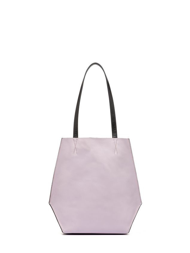 Marni Brown and pink calfskin TANGRAM bag Woman - 1