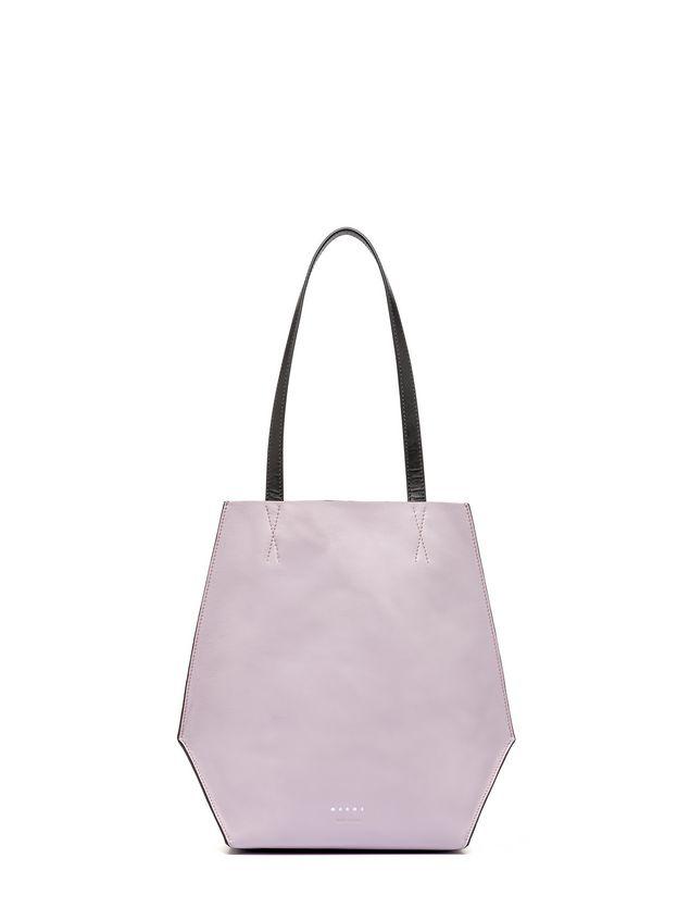 Marni Brown and pink calfskin TANGRAM bag Woman - 3
