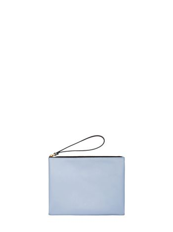 Marni Blue and brown calfskin clutch Woman