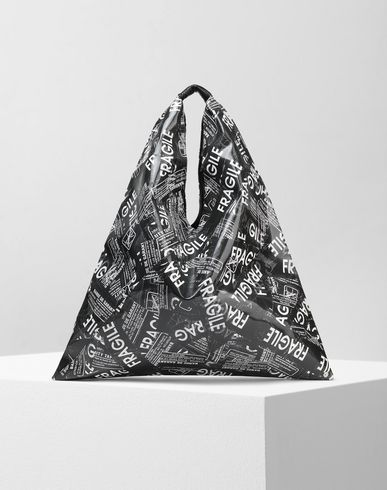 MM6 MAISON MARGIELA ハンドバッグ レディース Fragile' print japanese tote bag f