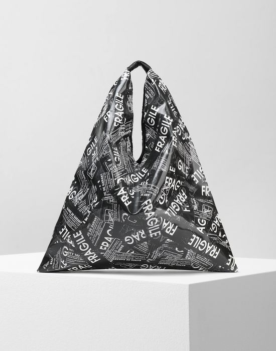 MM6 MAISON MARGIELA Fragile-print Japanese bag Handbag [*** pickupInStoreShipping_info ***] f