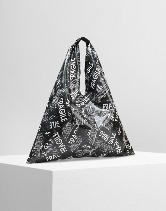 MM6 MAISON MARGIELA Fragile-print Japanese bag Handbag [*** pickupInStoreShipping_info ***] r