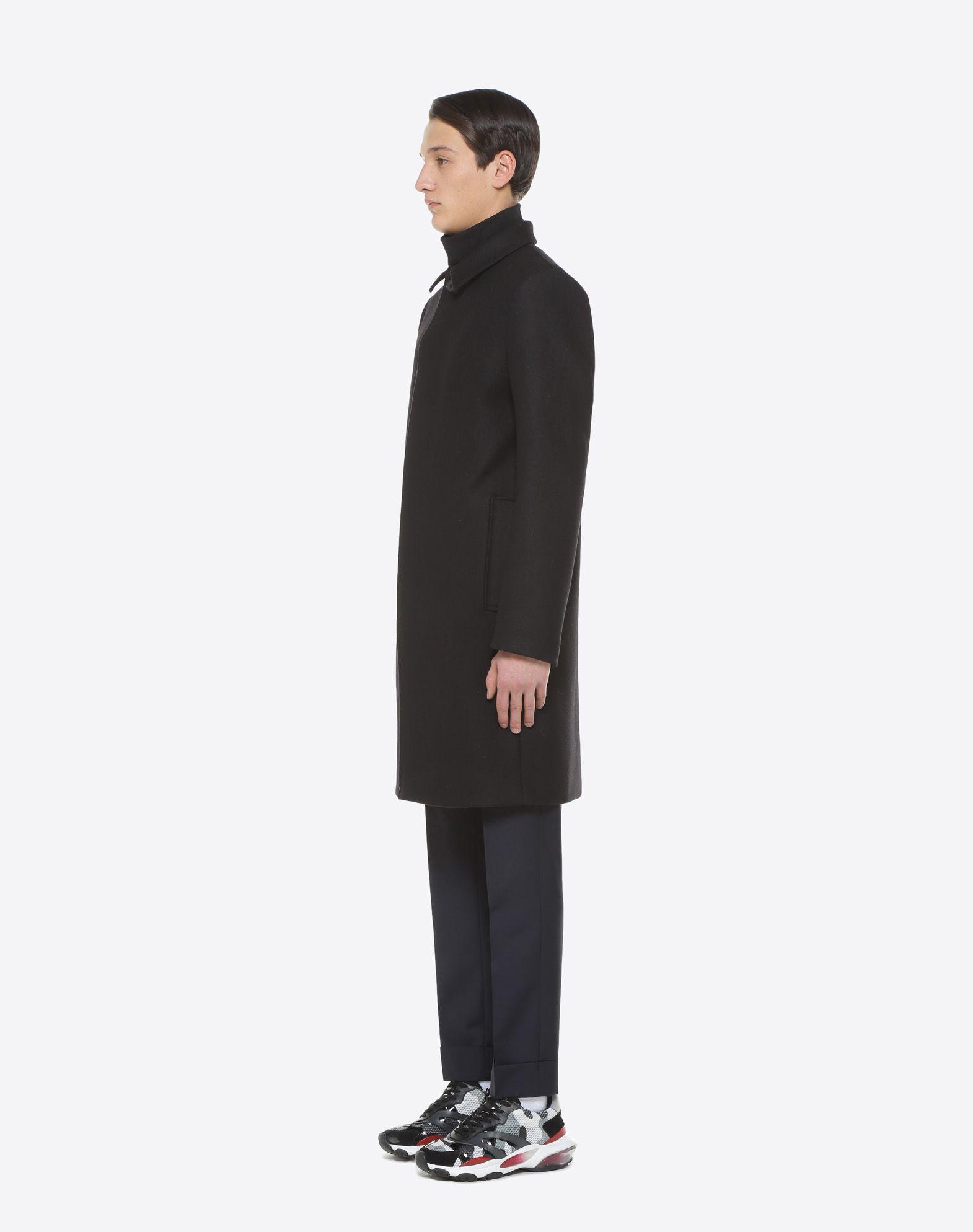 VALENTINO UOMO VLTN wool felt coat COAT U d