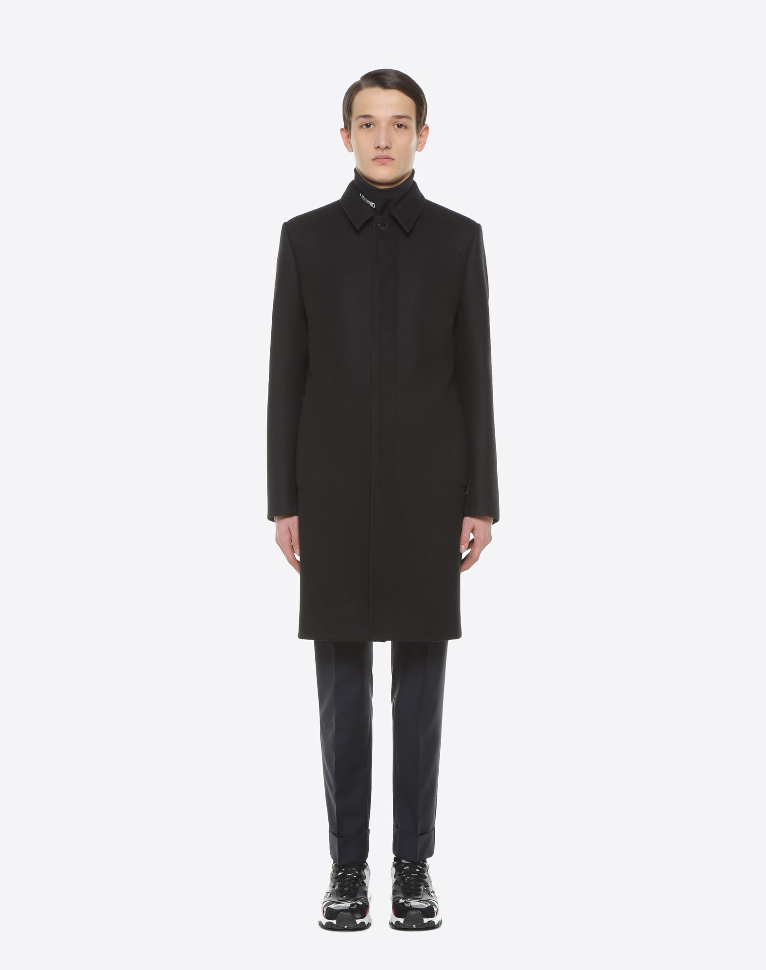 VALENTINO UOMO VLTN wool felt coat COAT U r
