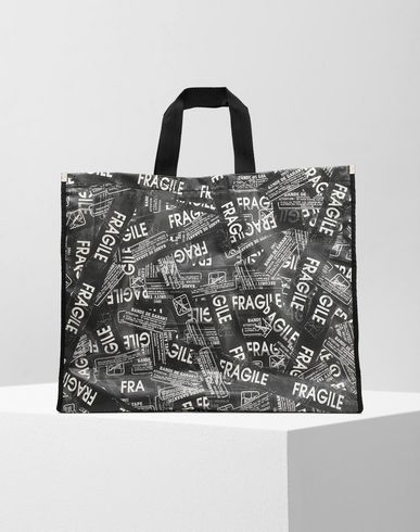 MM6 MAISON MARGIELA トートバッグ レディース Fragile' PVC shopping bag f