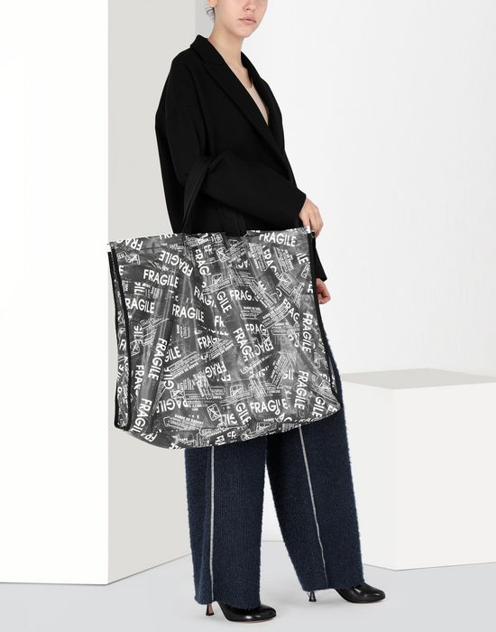 MM6 MAISON MARGIELA Fragile' PVC shopping bag Tote [*** pickupInStoreShipping_info ***] b