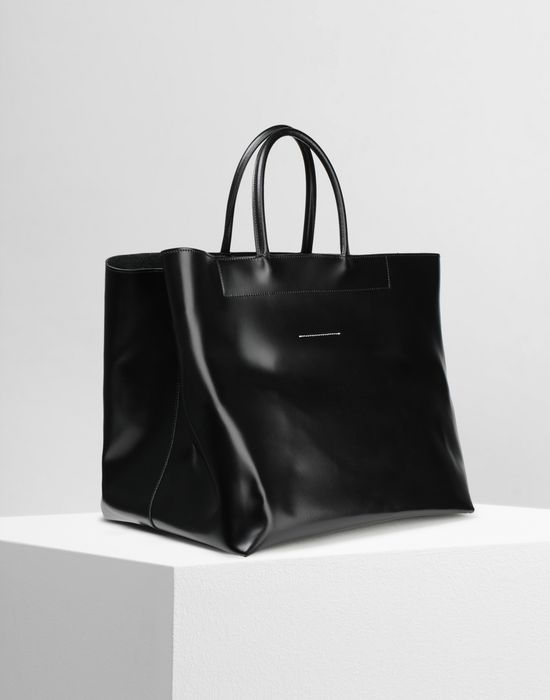 MM6 MAISON MARGIELA Calf leather tote bag Handbag [*** pickupInStoreShipping_info ***] r