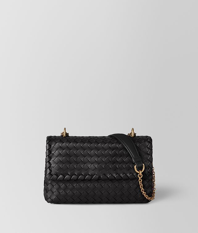 BOTTEGA VENETA NERO INTRECCIATO NAPPA BABY OLIMPIA BAG  Shoulder Bag [*** pickupInStoreShipping_info ***] fp