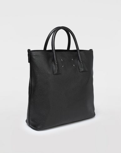 BAGS Leather shopper bag Black