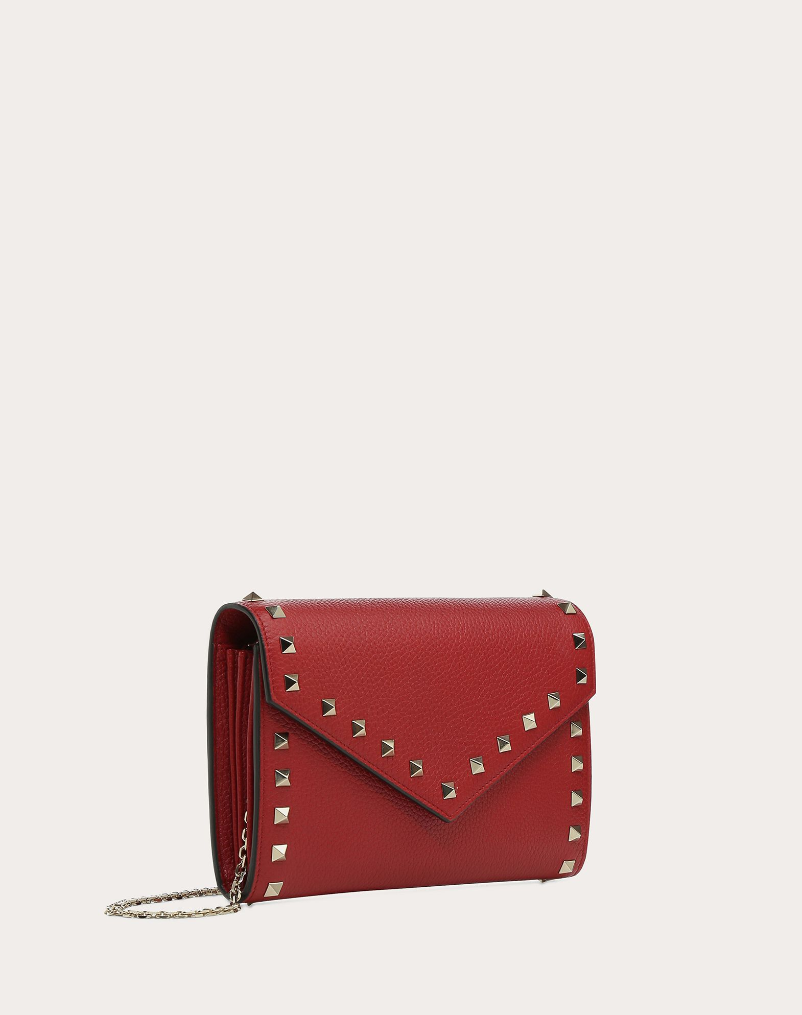 VALENTINO GARAVANI Rockstud Wallet with chain CHAIN WALLETS D e