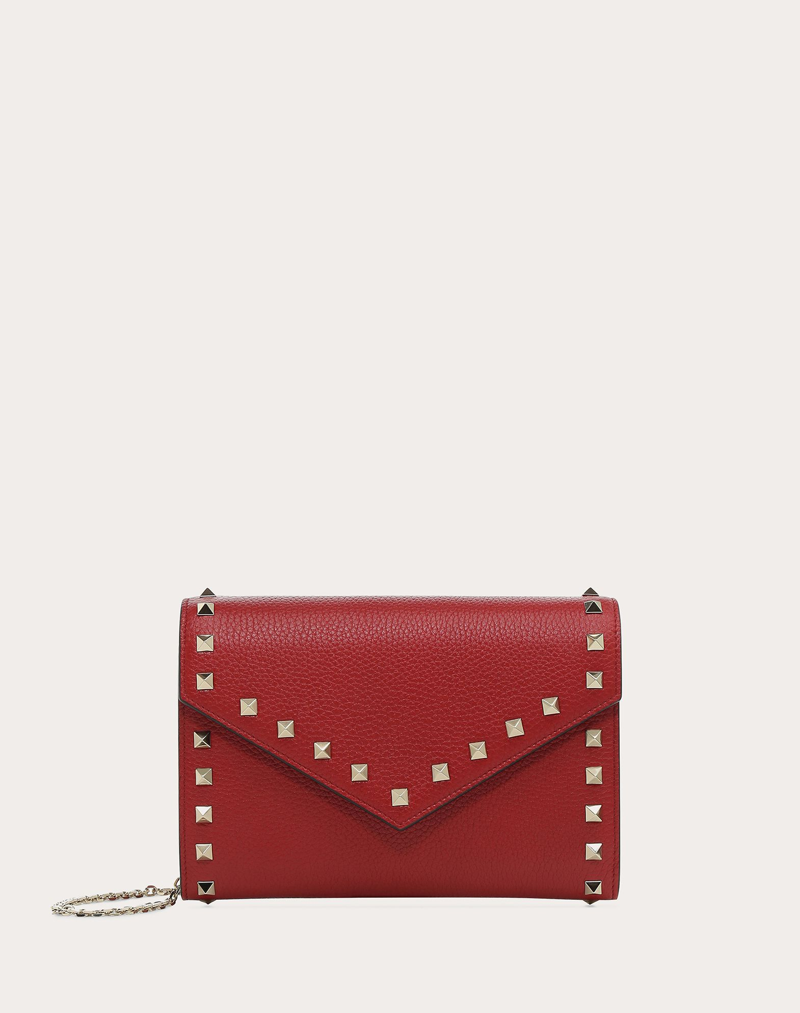 VALENTINO GARAVANI Rockstud Wallet with chain CHAIN WALLETS D f