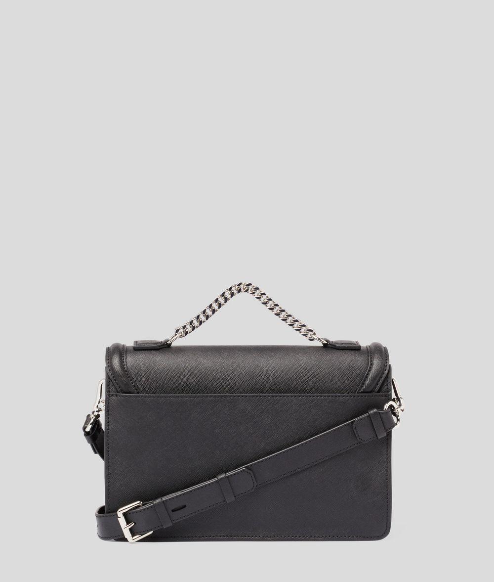 KARL LAGERFELD K/Ikonik Schultertasche aus Leder Handtasche Damen d