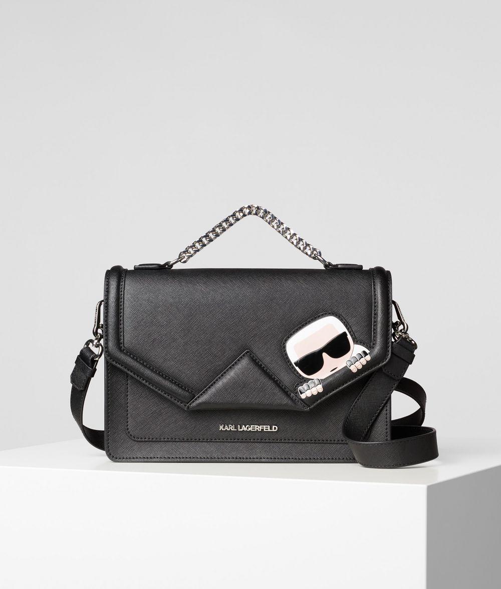 KARL LAGERFELD K/Ikonik Leather Shoulder Bag Handbag Woman f