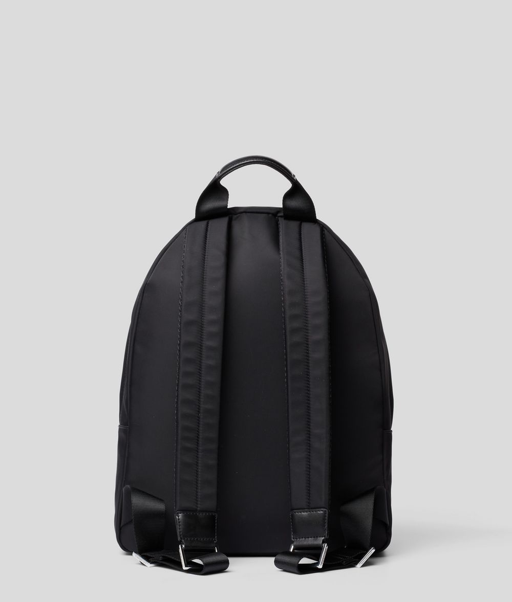 KARL LAGERFELD K/Ikonik Nylon and Leather Backpack Backpack E d