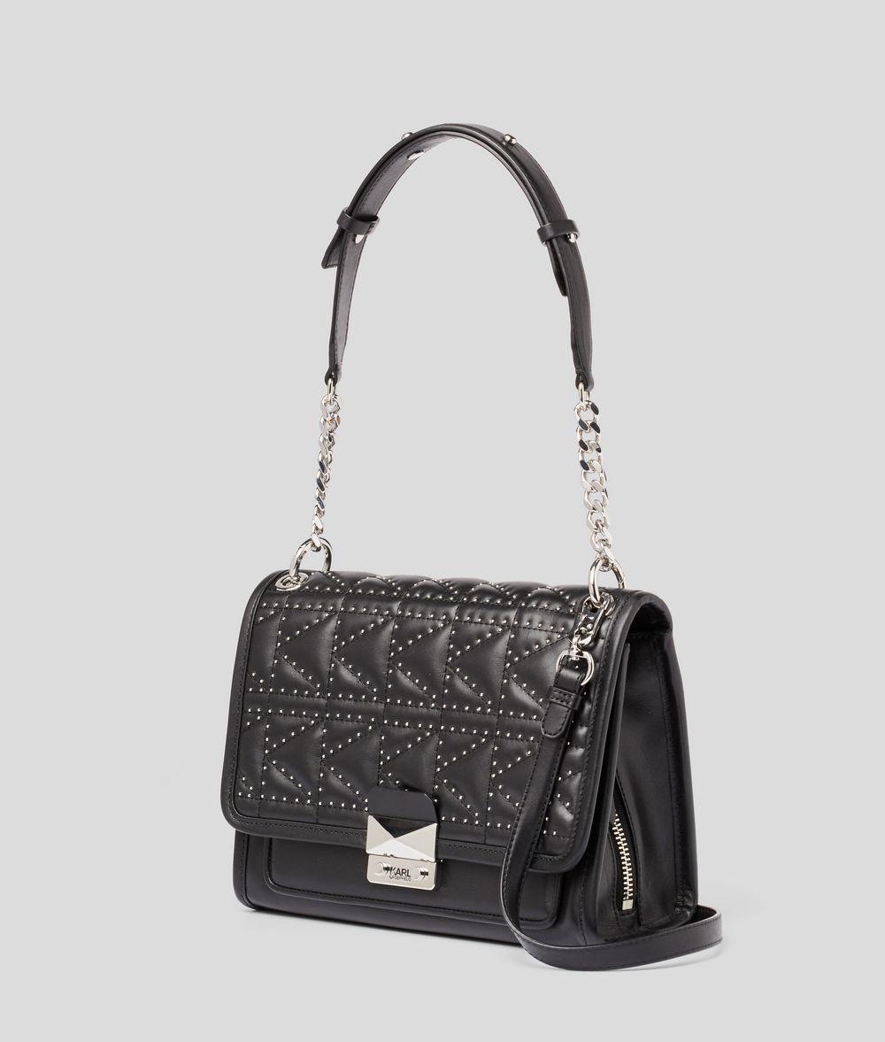 KARL LAGERFELD K/KUILTED STUDS SHOULDER BAG Handbag Woman d