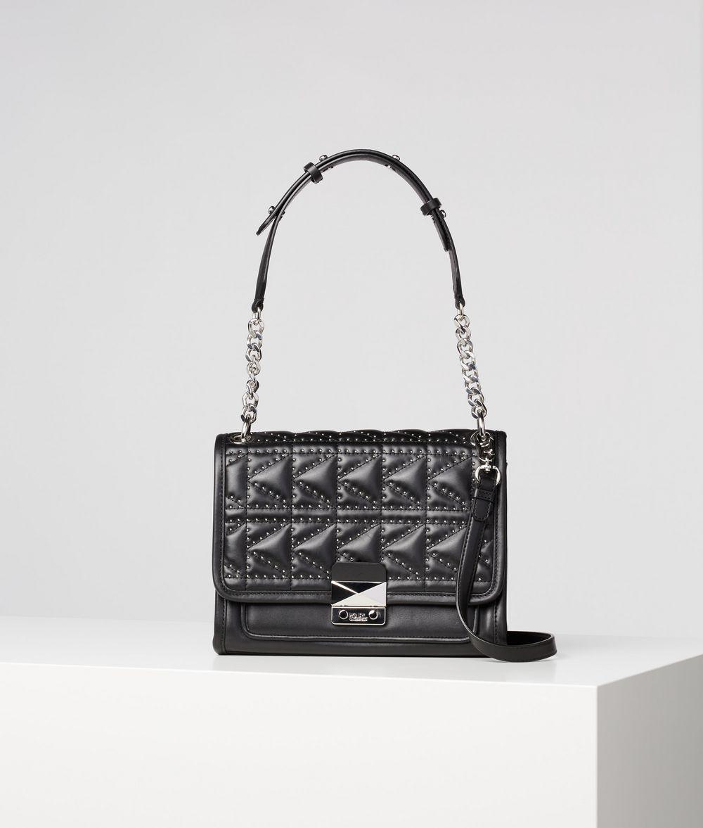 KARL LAGERFELD K/KUILTED STUDS SHOULDER BAG Handbag Woman f