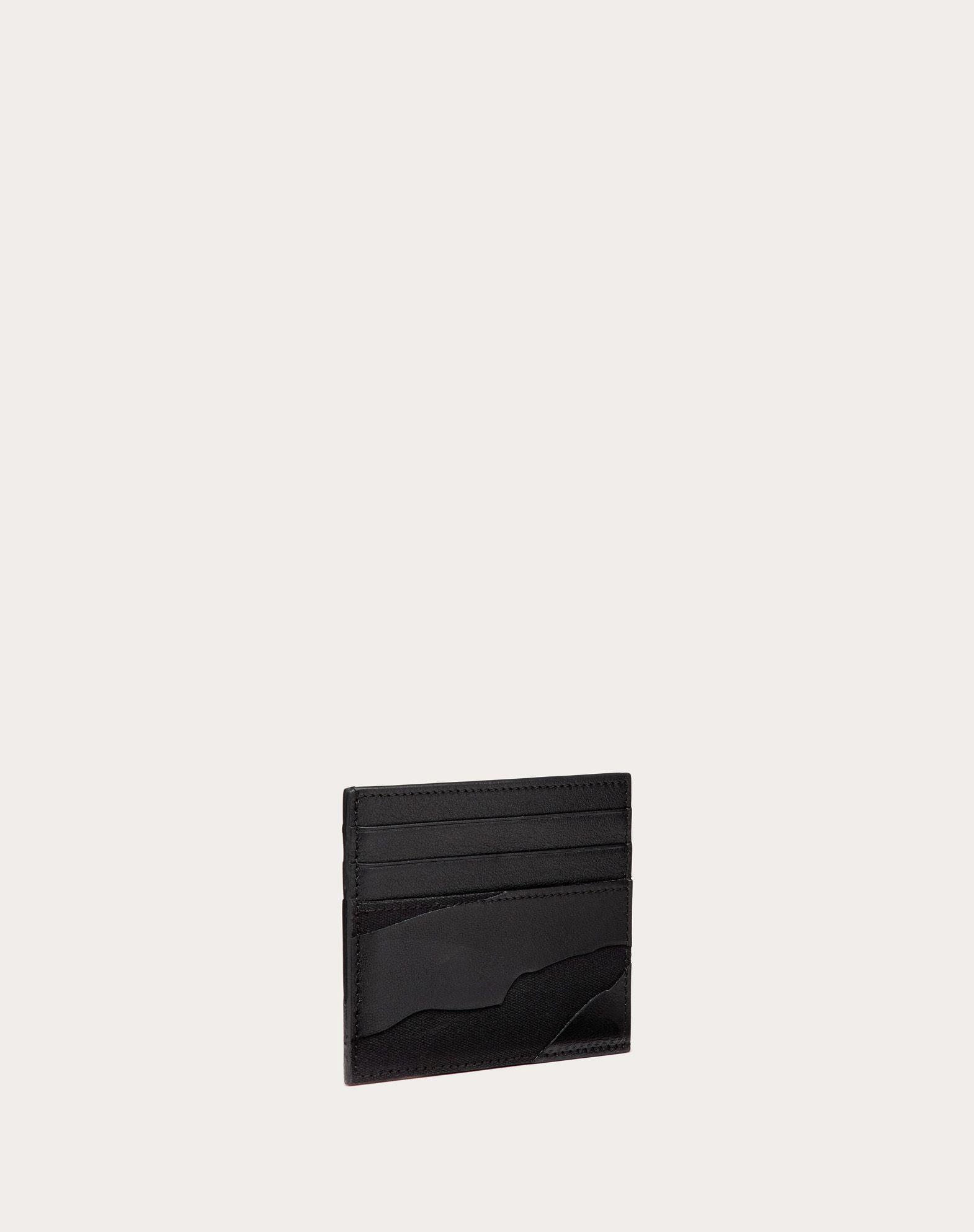 VALENTINO GARAVANI UOMO Camouflage Noir Cardholder  COIN PURSES & CARD CASES U e