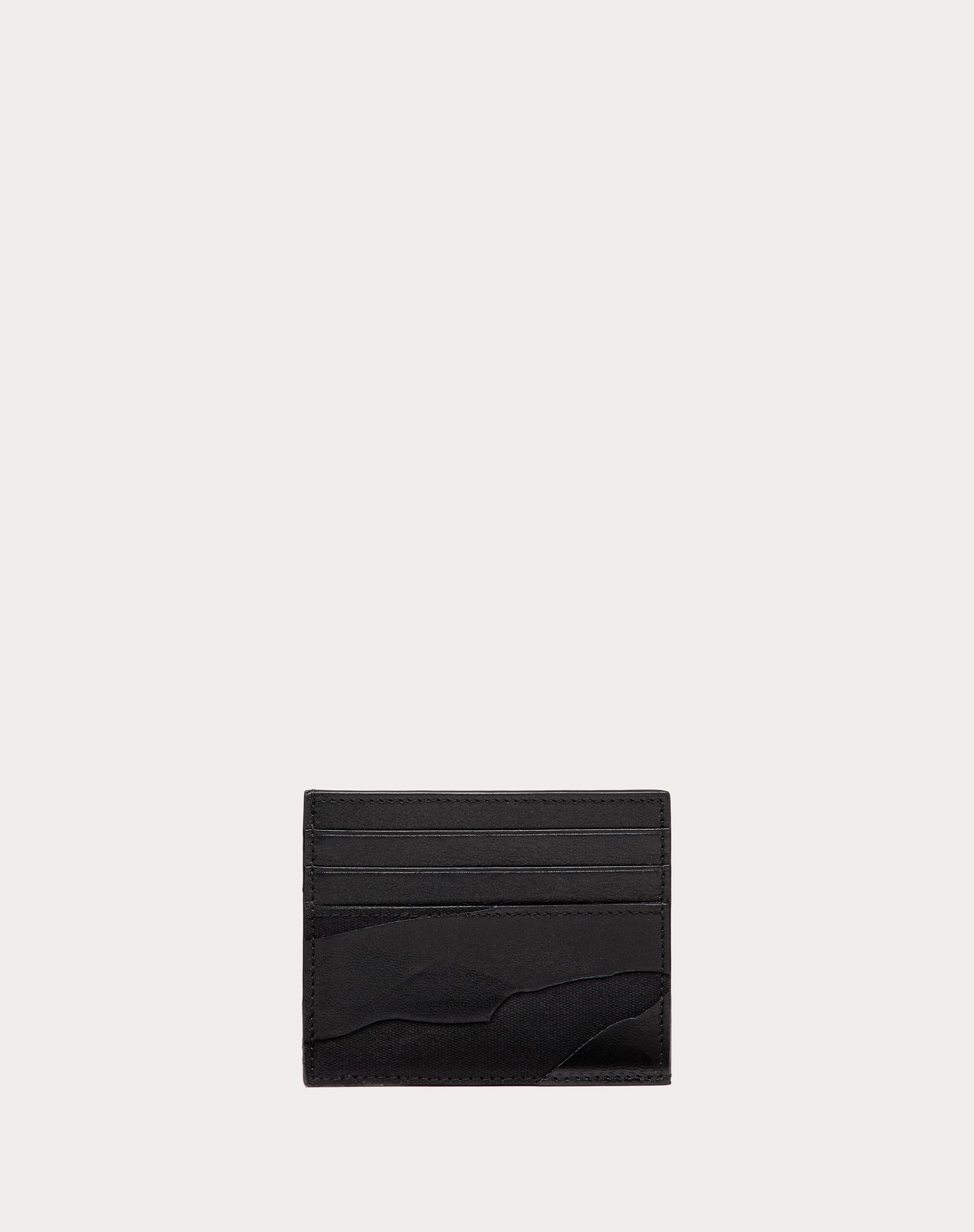 VALENTINO GARAVANI UOMO Camouflage Noir Cardholder  COIN PURSES & CARD CASES U f
