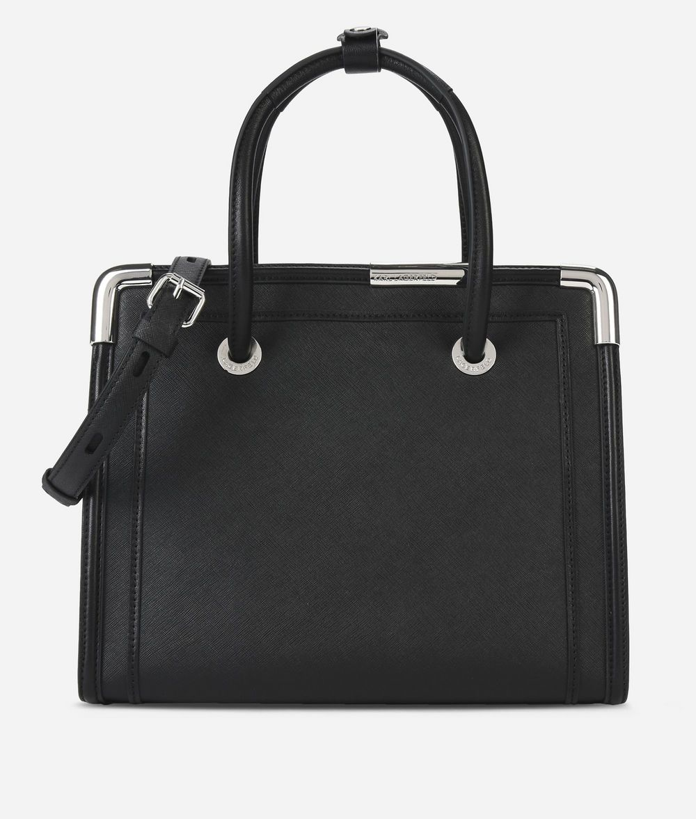 KARL LAGERFELD K/Rocky Leather Tote Bag Tote Woman f