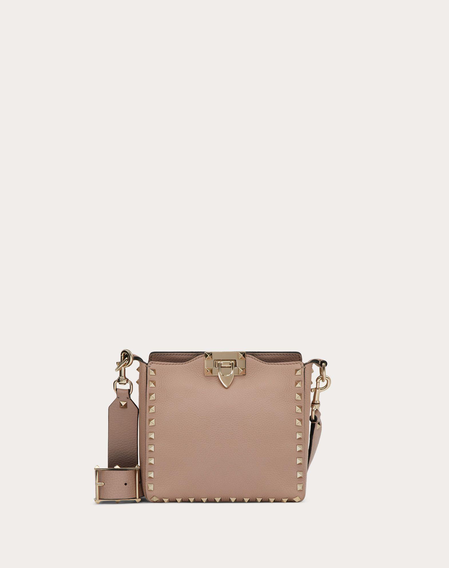 98ca1a8b4c Valentino Rockstud Mini Vitello Stampa Leather Hobo Bag In Light Pink