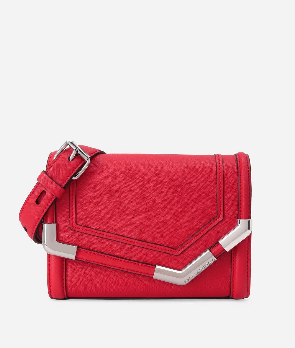 KARL LAGERFELD K/Rocky Small Leather Shoulder Bag Shoulder bag Woman f