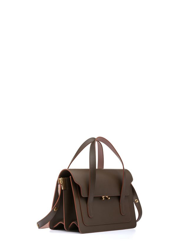 ... 1  Marni TRUNK handbag with shoulder strap in two-color calfskin Woman  - 2 ... 5326a37e35bc5