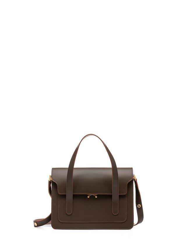 Marni TRUNK handbag with shoulder strap in two-color calfskin Woman - 1 ... 33e652e95c004