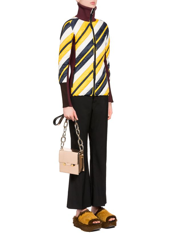 Marni CADDY bag in cracklé calfskin Woman - 5