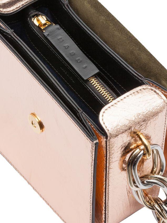 Marni CADDY bag in cracklé calfskin Woman - 4
