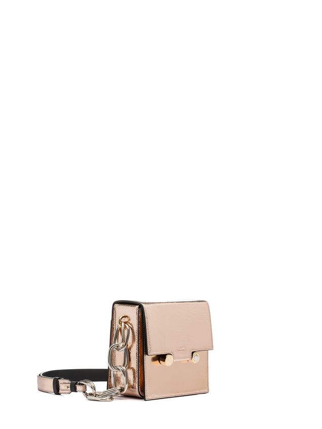 Marni CADDY bag in cracklé calfskin Woman - 2
