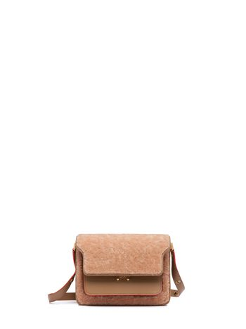 Marni TRUNK bag in sheared merino Woman