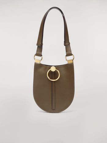 Marni EARRING bag in brown calfskin Woman