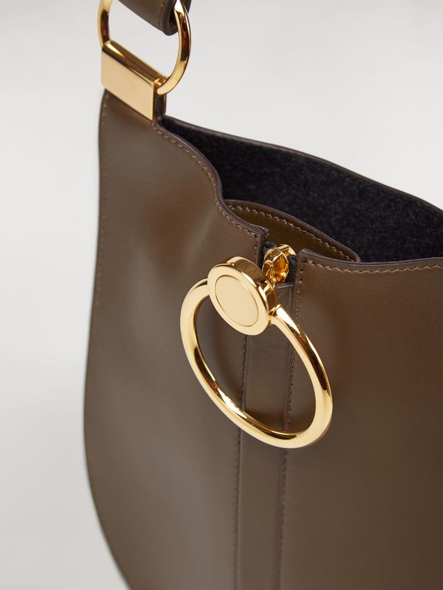 Marni EARRING bag in brown calfskin Woman - 5