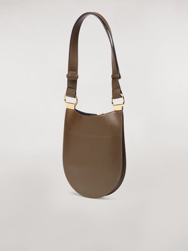 Marni EARRING bag in brown calfskin Woman - 3