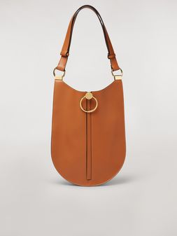 Marni EARRING bag in rust calfskin Woman