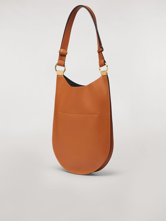 Marni EARRING calfskin bag rust Woman